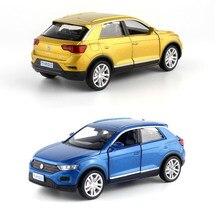 1:36 nova chegada alta simulação 3 cores T-ROC suv modelo de liga puxar para trás coleção carro metal modelo v190