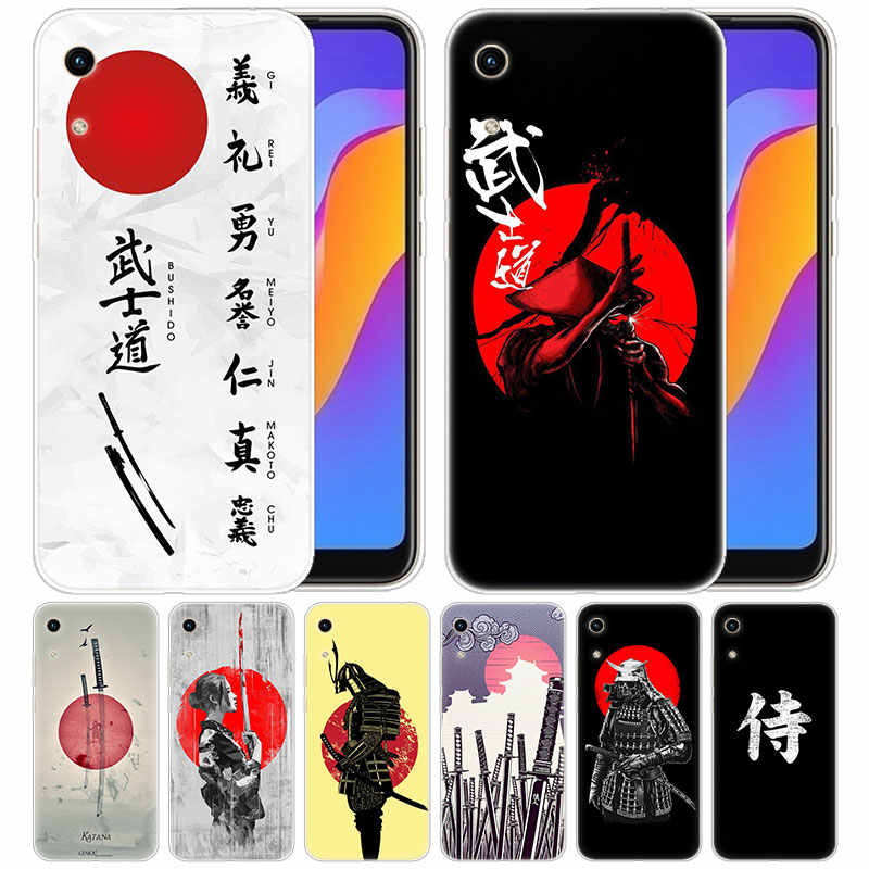 luxury Soft Silicone Case Japanese Bushido Samurai for Huawei Honor 9X 8A 7A 20 Pro 7X 8X 7S 8S 8 9 10 Lite View 20 20i 10i Play