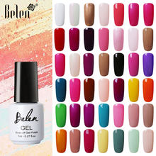 Belen 7Ml Beruntung Warna 79 Warna UV Gel Cat Kuku Tahan Lama Gel Lacquer UV LED Lamp Base top Coat Semi Permanen Pernis(China)