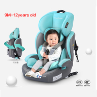 Protable Simple Child Car Safety Seats Easy Folding Car Seat Booster Height Can Adjustable Isofix Interface 9M 12Y