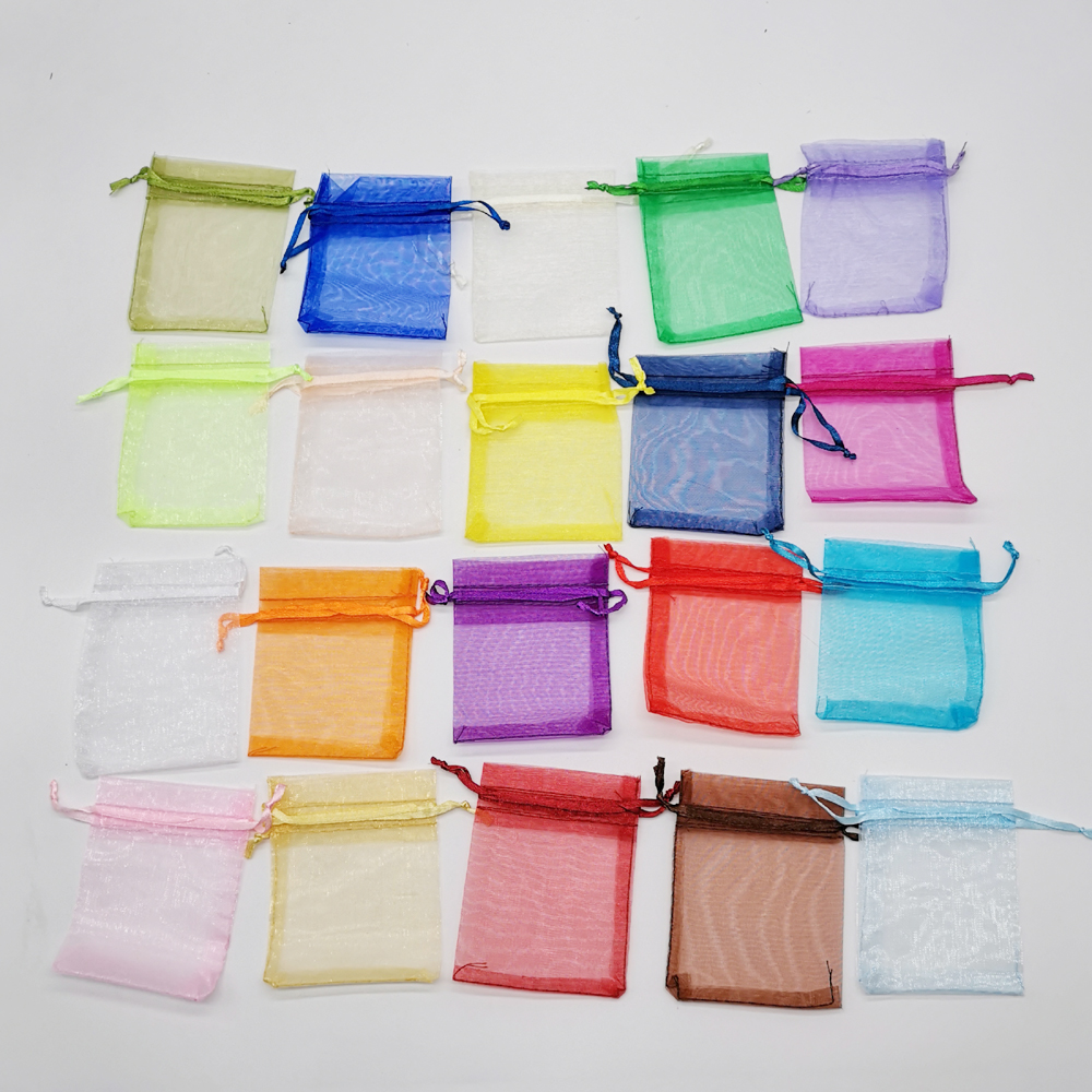 50pcs Organza Jewellery Bag Pouches 9x12cm Jewelry Packaging Display Drawstring Organza Bags Packaging For Jewelry Packaging Bag