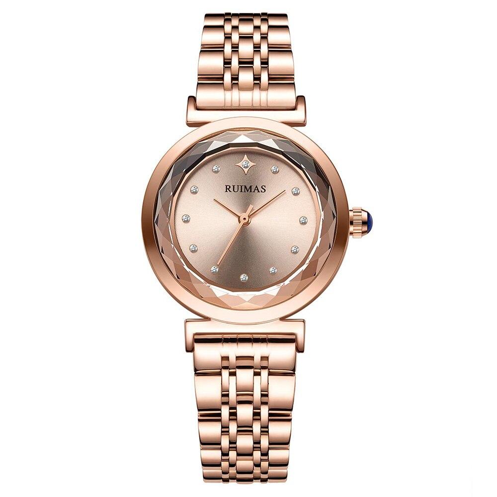 Fashion Casual Women Rose Gold Watches Ladies Top Brand Luxury Stainless Steel Watch Women's Dress Female Clock Relogio Feminino