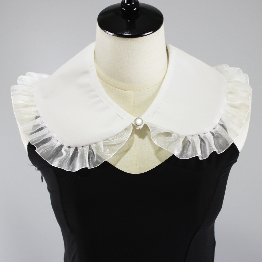 White Cotton Shawl Dickie Lace Decoration Lead Round Neck Fake Collar Detachable New Free Shipping Shirt Women