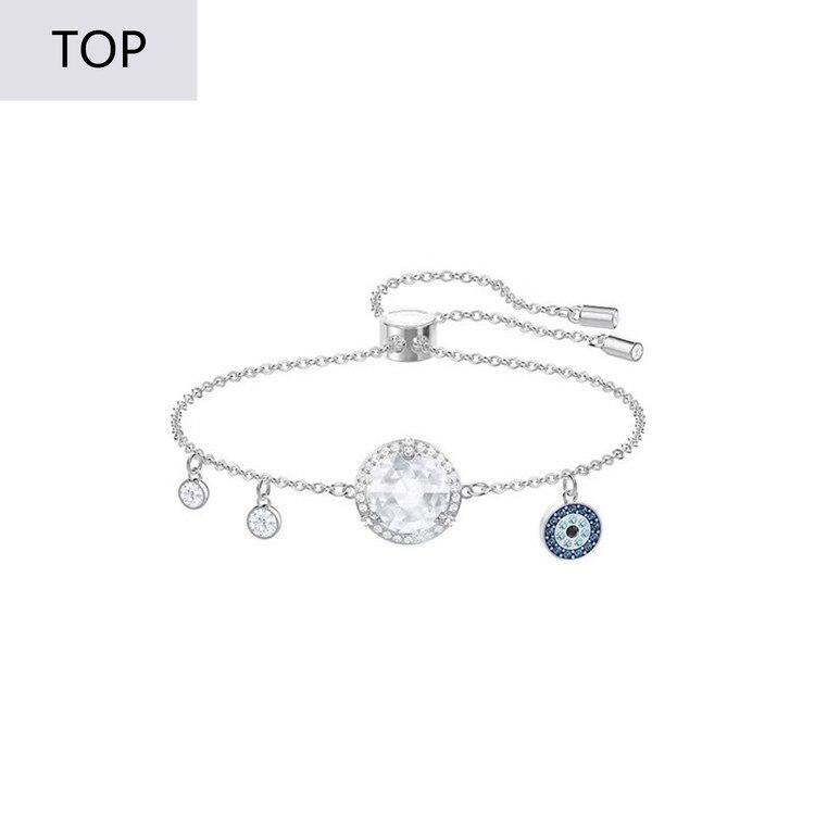 Trendy Devil Of Eye  Crystal 1:1 Swa Woman Blue Charm Bracelets For Women Jewelry Boho Factory
