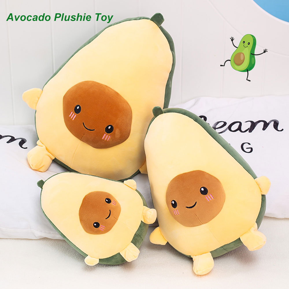 25-40cm Filled Fruit Doll Cute Simulation Food Avocado Stuffed Plush Toys Fruit Cushion Pillow Plant Toy Sofa Pad Kids Girl Gift