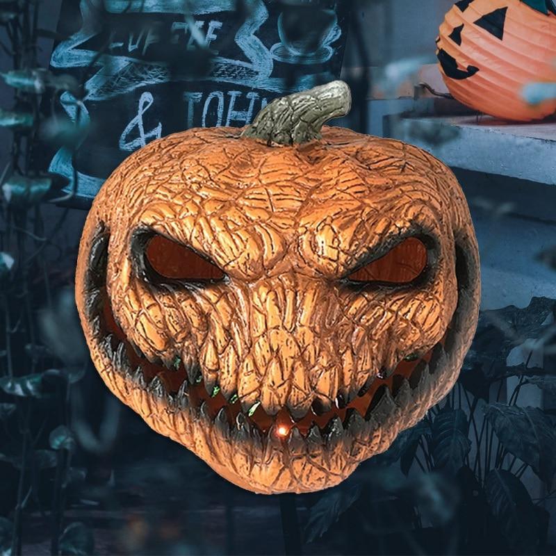 Horrible Evil Pumpkin Light Battery Powered Lamp Halloween Party Holiday Decor Halloween Light Luminous Pumpkin Holiday Lighting