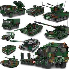 Xingbao alemanha série militar HX-8 elefante trator pzh2000 canhão leopard tanque Lars-2 foguete lançador blocos de construção tijolos
