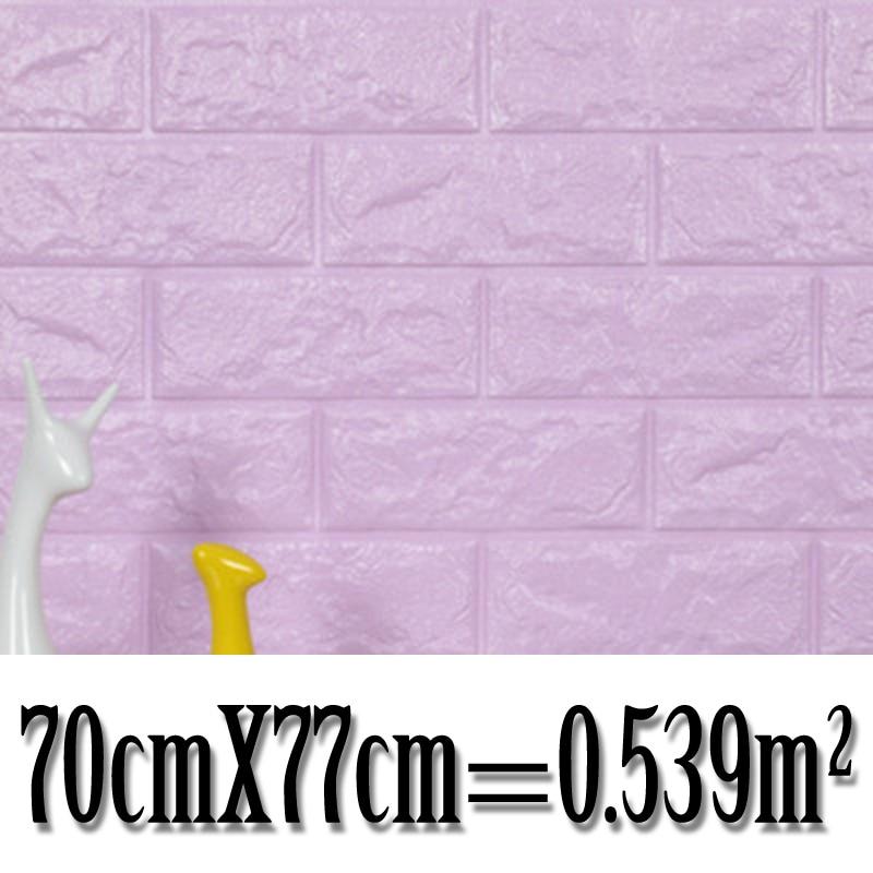 70*77CM 3D Brick Wall Sticker Foam Wallpaper Panels Room Decal Self-Adhesive