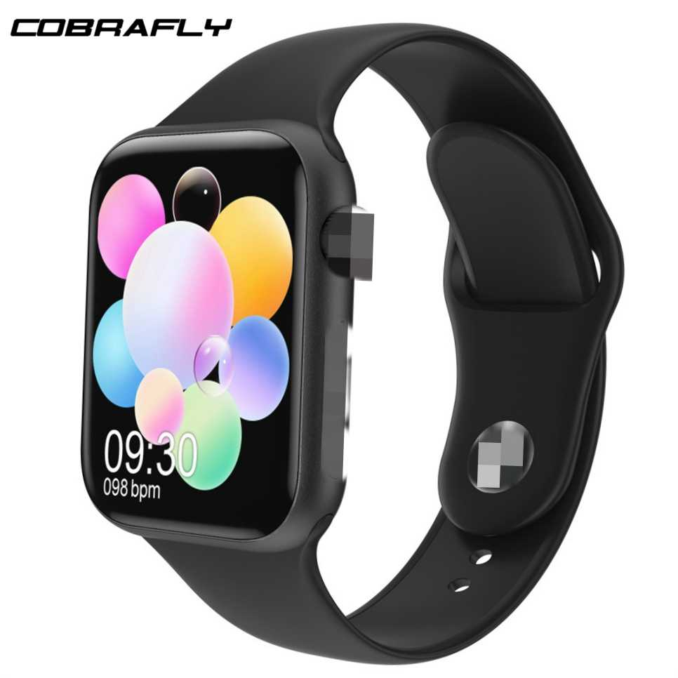 Cobrafly 1.78 Inci Smart Watch K8 IWO Suhu Max Panggilan Bluetooth Jantung Rate Montior Nirkabel Pengisian Jam VS IWO 12 IWO 13