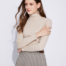 Модный теплый женский свитер hlbcbg с высоким воротником вязаный