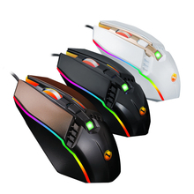 USB Wired RGB Backlit Optical Mice 2400 DPI Professional Gaming Mouse For PC Laptop Computer Game Mouse For CS LOL Gamer delux mini keyboard t9 plus professional mechanical gaming keypad wired gaming mouse 12000 dpi computer mice for laptop pc gamer