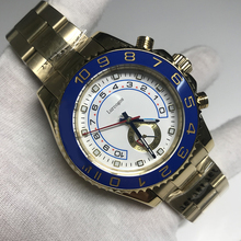 Luxury Brand Men Automatic Mechanical Watch glide smooth second hand Stainless Steel Yacht Watches Master Sapphire Glass A read brand tops 2017 multifunction full steel second hand watches for men sapphire crystal multiple time zone calendar 8083gq