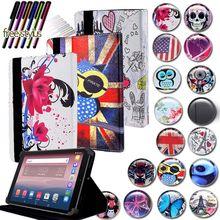 Кожаный чехол-подставка для планшета KK & LL для Alcatel OneTouch Pixi 3 10 дюймов + Бесплатный стилус