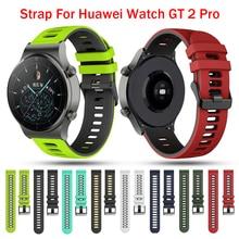 22mm yumuşak silikon Band kayışı için Huawei izle Gt 2 Pro spor Watchband için Gt2 Pro bileklik değiştirme bilezik