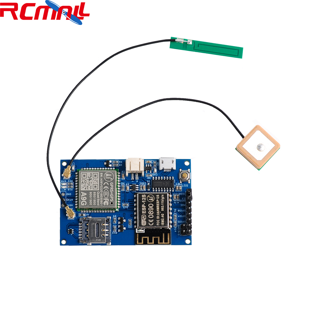 Wifi Module ESP8266 ESP-12S A9G GSM GPRS+GPS Module IOT Node V1.0 Development Board W/ Active Antenna WiFi+Cellular+GPS Tracking