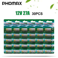PHOMAX 30pcs/pack 27A key alkaline dry battery 12V