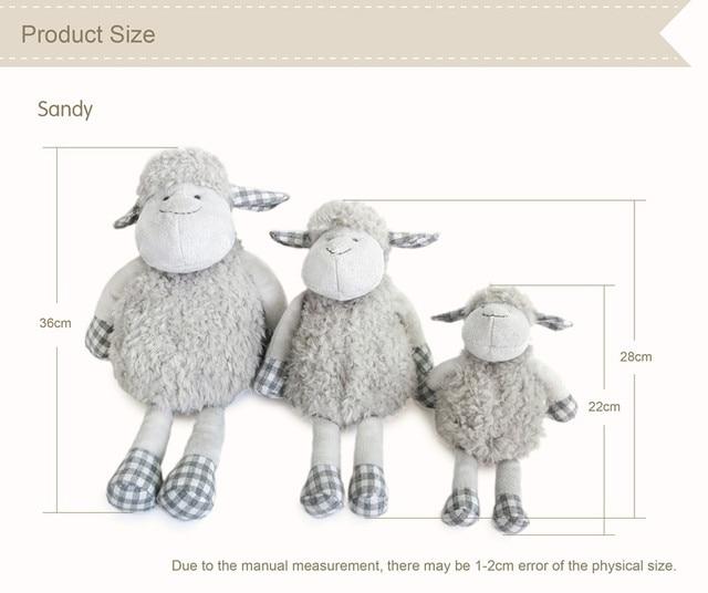 Luxury Handmade Lamb Plush Figure Toys Soft Baby Sleep Snuggle Doll Lovely Stuffed animal Sheep Theme Nursery Decor Plush