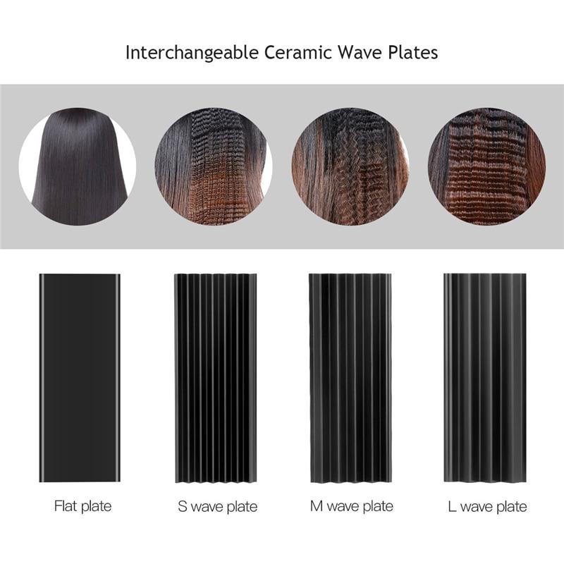 4 i 1 hårkrølling + varmebestandig hanske keramisk hår curler rull - Hårpleie og styling - Bilde 4