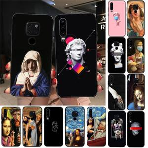 YNDFCNB Mona Lisa Art David lines Phone Case For Huawei Honor 7A 7C ru 5.7 8 8x 9 10 20lite 10i 20i Honor Play 6.3