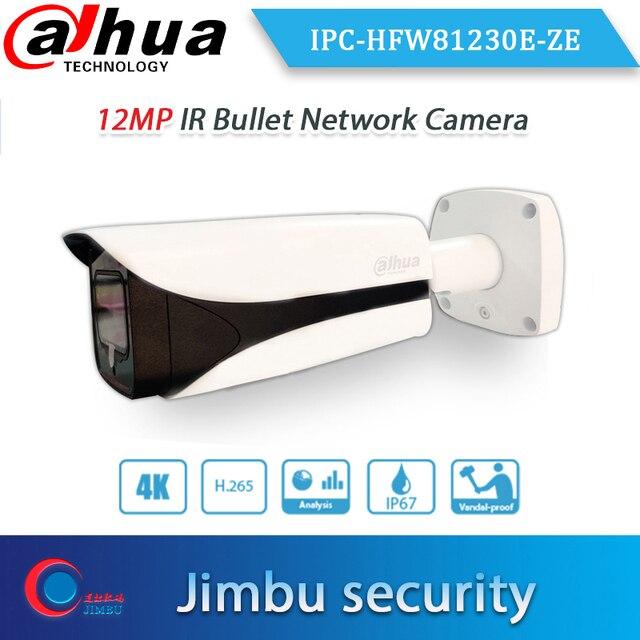 Dahua 원래 IPC HFW81230E ZE 4K 12mp 동력 렌즈 dahua 로고를 가진 4.1mm ~ 16.4mm IR 50m 탄알 옥외 PoE + IP 사진기