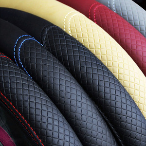 Image 5 - Universal Car Steering Wheel Cover Skidproof Auto Steering  Wheel Cover Anti Slip Embossing Leather Car styling Car Accessories