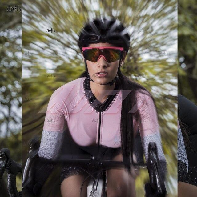 Kafitt jasper coleção manga longa ciclismo skinsuit pro feminino bicicleta macacão uniforme ciclismo triathlon ciclismo skinsuit 4