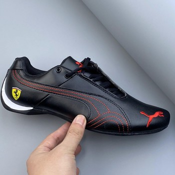 2020 New Pumax Racing Series Classic Running Ferraring Drift 5 Ultra Moto-inspired Sneaker Leather Low-top Sports Casual Shoes image