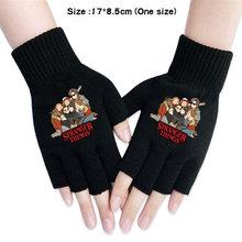 Перчатки вязаные на полпальца для мальчиков и девочек модные