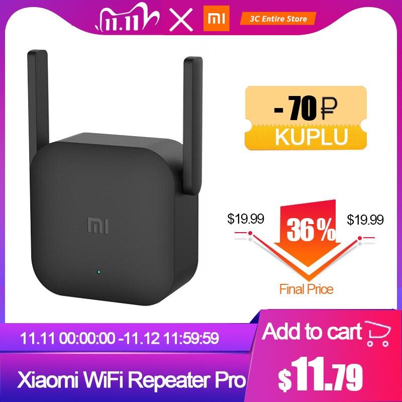 Original Xiaomi WiFi Repeater Pro 300M WiFi Amplifier 2 4G Wifi Signal Extender Roteador APP Control Wifi Extender Amplificador