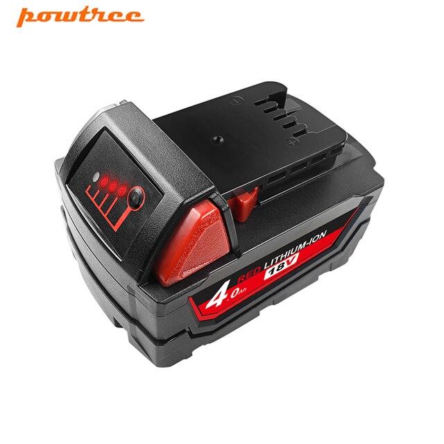 Powtree pour Milwaukee M18 9.0/6.0Ah 18V M18 outils électriques Rechargeable Li-ion batterie de remplacement 48-11-1815 48-11-1850 48-11-1840