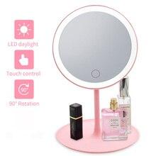 LED Makeup Mirror with led light Vanity Mirror light led mirror miroir зеркало для макияжа spiegel espejo de maquillaje CFTDIS