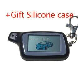 X5 Lcd Afstandsbediening Sleutelhanger Chain + Gift Siliconen Case Voor Russische Versie 2-Weg Tomahawk X5 Twee manier Auto Alarm Systeem X3