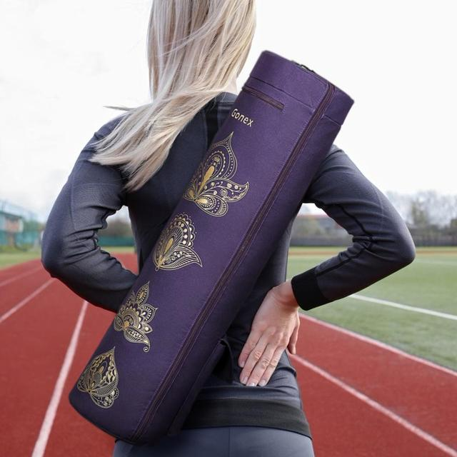 Yoga Mat Bag, Full-Zip Exercise Gym Carry Bag Durable Waterproof Oxford Cloth with 2 Pockets, Adjustable Shoulder Strap