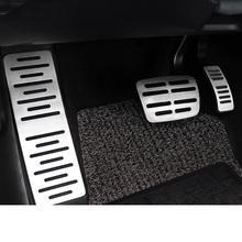 цена на Lsrtw2017 Aluminum Alloy Car Accelerator Brake Rest Pedal for Audi Q7 Q3 A3 Interior Accessories Styling Auto 2009-2020