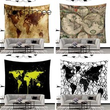 World Map Wall Tapestry Hanging Mandala/Psychedelic/Trippy/Tarot Fabric Decor Custom Room Art Mandala Blanket