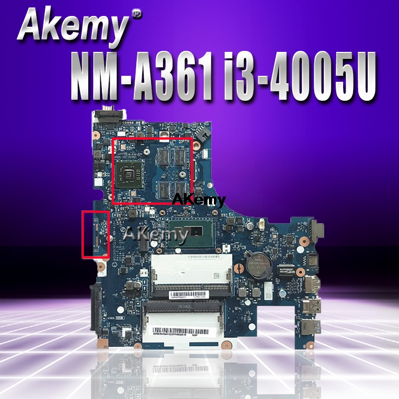 <font><b>NM</b></font>-<font><b>A361</b></font> motherboard for Lenovo G50-80 laptop motherboard ACLU3/ACLU4 <font><b>NM</b></font>-<font><b>A361</b></font> R5 GPUnotebook I3-4005 CPU original Test image
