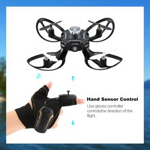 где купить 2.4G 4 Channel Gloves Gesture Sensor Control Interactive Mini Drone Quadcopter Hand Sensor Control RC Helicopter дешево