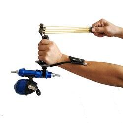 Slingshot การล่าสัตว์ที่มีประสิทธิภาพพร้อมกับนาฬิกาข้อมือ Fixation อุปกรณ์ Catapult Professional เป้าหมายยุทธวิธี ...