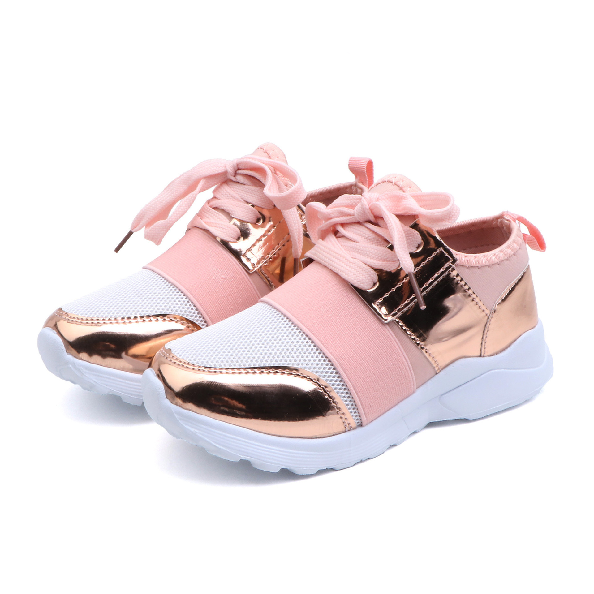 Girls Mesh PU Breathable Sneakers Toddler Little Kid Casual Fashion Trainers Children Sports Shoes <font><b>4</b></font> 5 <font><b>6</b></font> 7 8 9 10 11 <font><b>12</b></font> Year Old image