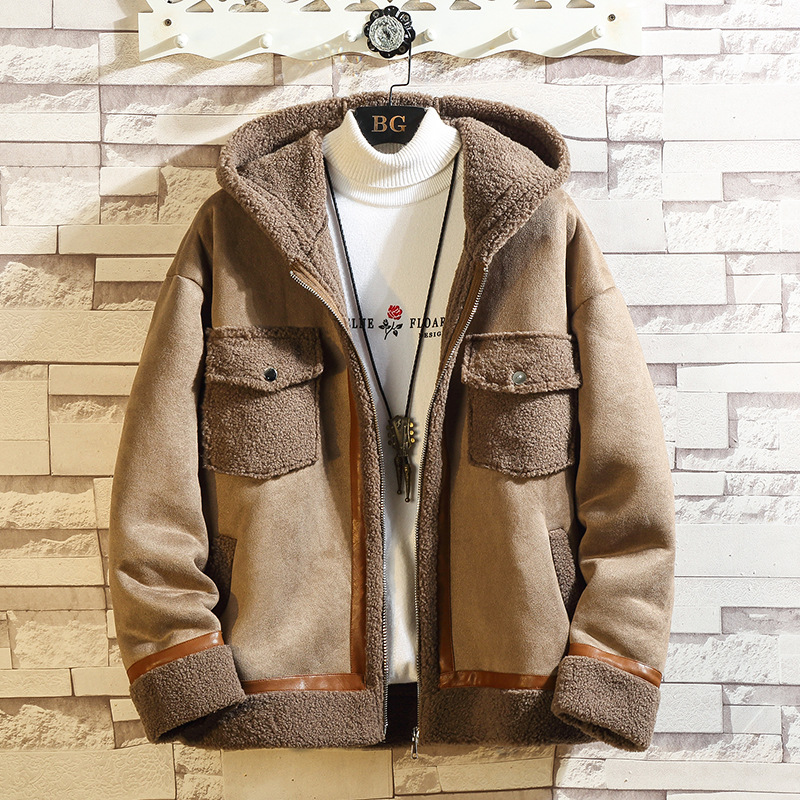 2020 Autumn & <font><b>Winter</b></font> New Arrival Japanese Plus Size Hooded <font><b>Men's</b></font> <font><b>Fur</b></font> Coat <font><b>Men's</b></font> Casual Zipper Cardigan <font><b>Shirt</b></font> Coat Free Shipping image