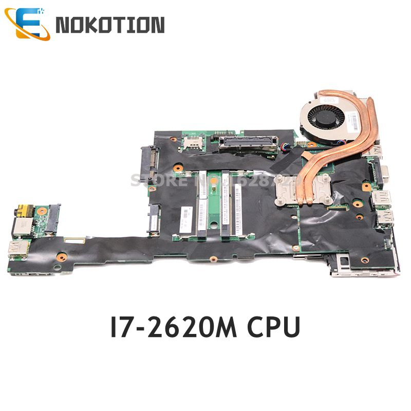 NOKOTION For Lenovo ThinkPad X220 X220I Laptop Motherboard FRU: 04Y1830 04Y1832 04Y1831 04Y1833 I7-2620M CPU DDR3