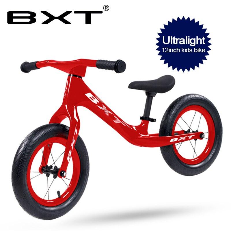 12 pulgadas bicicleta de equilibrio para chico ultraligero marco de fibra de carbono sin pedales bicicleta de paseo para niños bicicleta de carbono completa para chico
