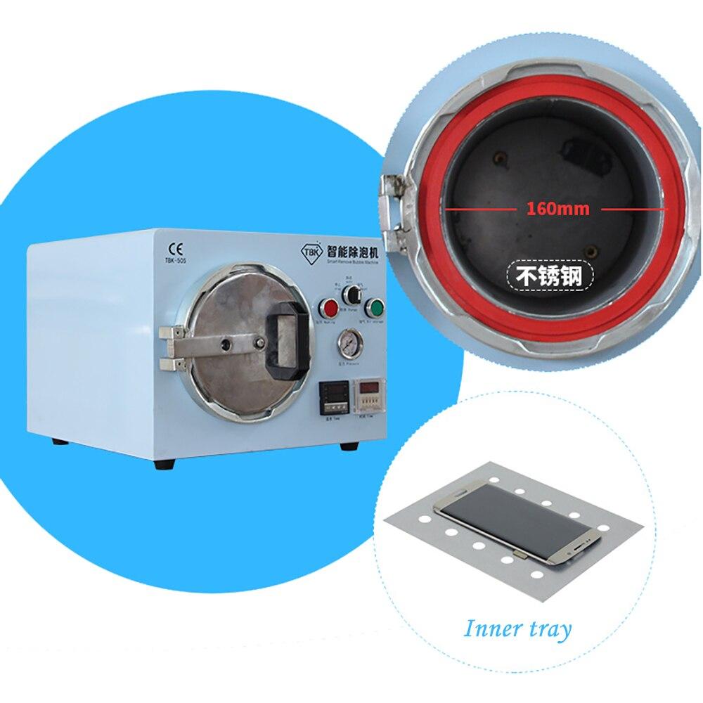 Купить с кэшбэком TBK-505 Intelligent Defoamer, LCD Screen High Pressure Defoamer, Built-in Air Compressor, OCA Defoamer