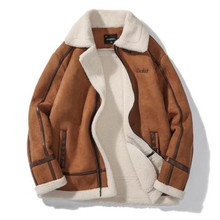 Mens Autumn Designer Faux Fur Lapel Neck Long Sleeve Zipper Homme Clothing Fashion Style Casual Apparel