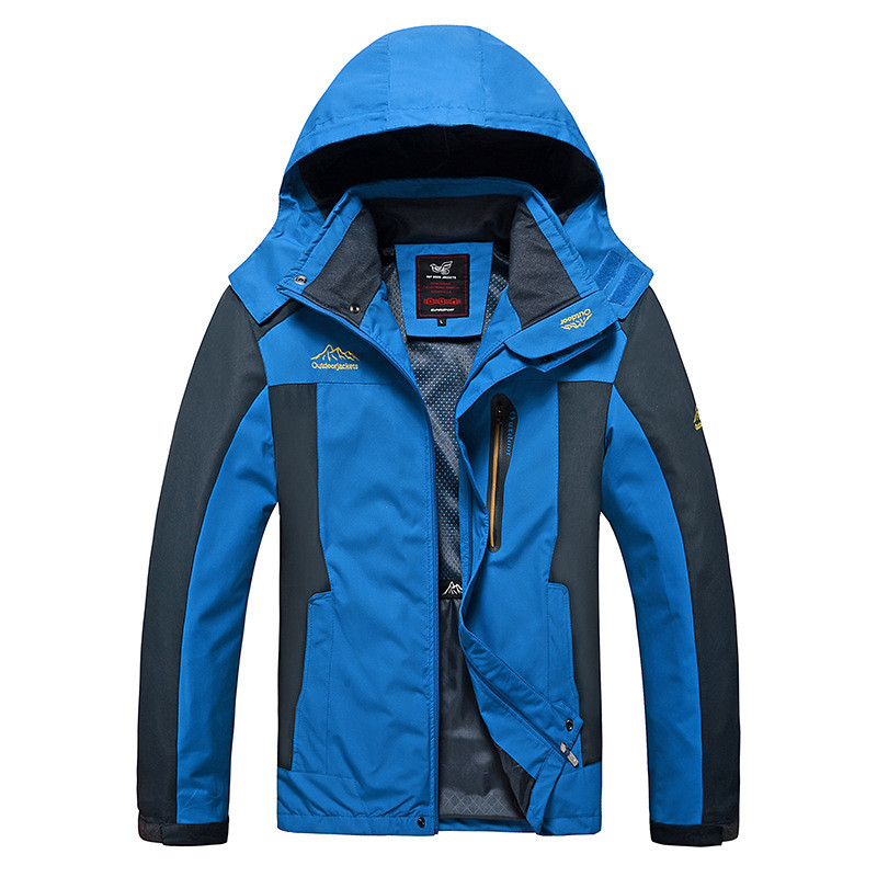 North Winter Jacket Men 2020 Spring Summer Outdoor Camping Face Windproof Rain Jackets Coats Thin Parkas Clothing Plus Size 8XL