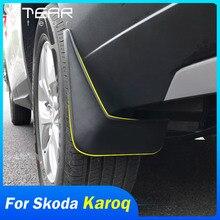 Vtear dla Skoda Karoq błotnik samochodu flary osłona rozbryzgowa pokrywa zewnętrzne błotniki błotniki samochód stylizacji auto rozszerzenie akcesoria