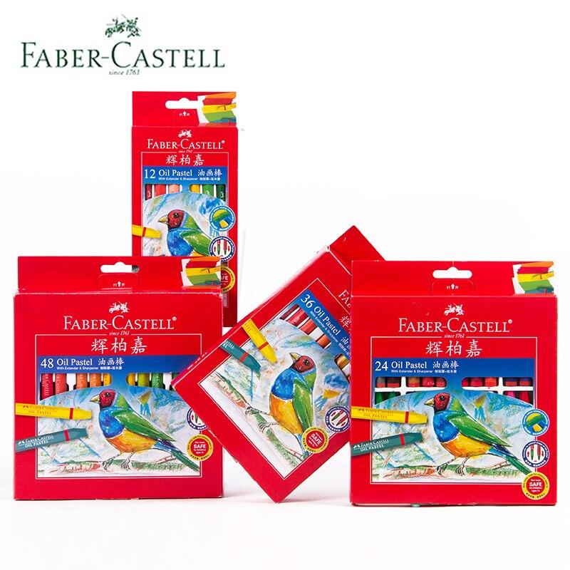 faber castell oleo pastel 12 24 36 48 cor hexagonal cera canetas flor vara jardim de
