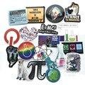 50 шт. Наука для химической лаборатории астронавт наклейки блокчейн код мозг учеными забавных наклеек для детей подарок декор Чемодан