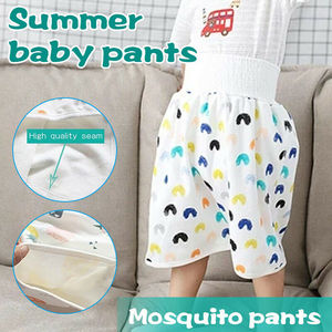 2 в 1 удобные детские шорты для взрослых с юбкой для подгузников впитывающие Шорты для маленьких мальчиков и девочек свободные шорты-шаровар...