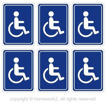 Dla niepełnosprawnych naklejek na wózki inwalidzkie znak dostępu do Handicap-do użytku na zewnątrz w pomieszczeniach etykiety winylowe chronione przed promieniowaniem UV i wodoodporne tanie i dobre opinie Całego ciała CN (pochodzenie) Pojazd logo Klej naklejki cartoon Karoserii Waterproof